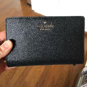 kate spade black joeley wallet